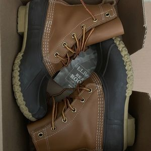 "LL Bean Boots Tan Brown Size 7 6"""